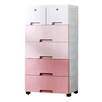 Pink chest drawers image 1