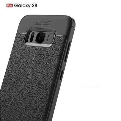 Auto Focus Leather Pattern Soft TPU Back Case Cover for Samsung S8/S8 Plus image 4