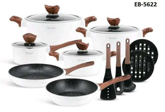 15pcs Edenberg Marble cookware image 1