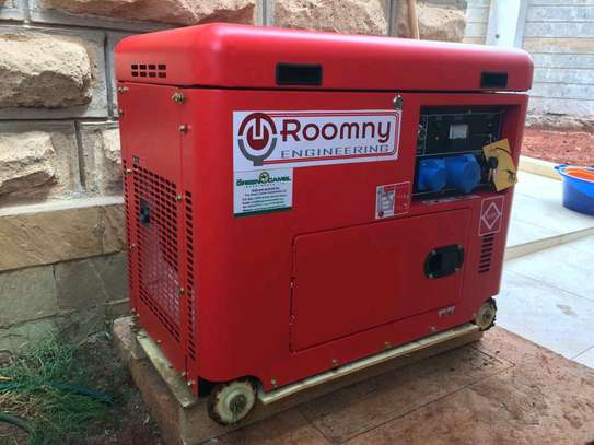 5 KVA Automatic Roomny Diesel Engine Generator with canopy image 1