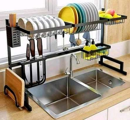 *Adjustable 85 Cm Over the sink dish drying rack image 1