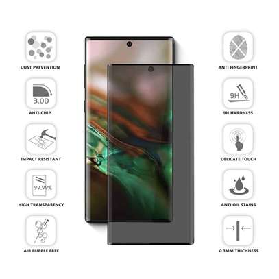 UV Privacy Anti-Spy Full Adhesive Tempered Glass film for Samsung Galaxy Note 10/10 Plus Screen Protector image 2