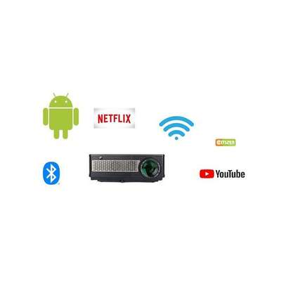 Smart TV Android Projector FHD supports 4K 3D  3,200 lumens image 1