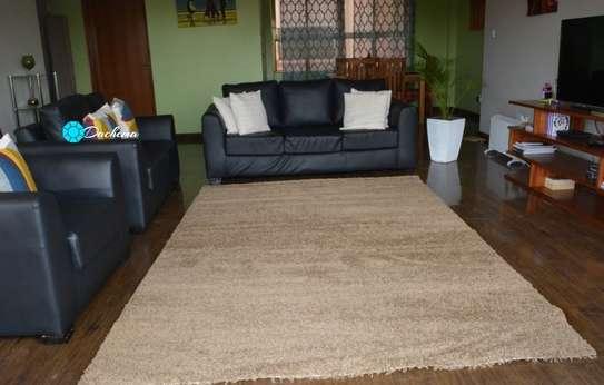 7*10 beige shaggy carpets image 1