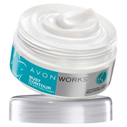 Avon Works Bust Contour Lift and Tone Cream image 1