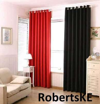 orange black curtain