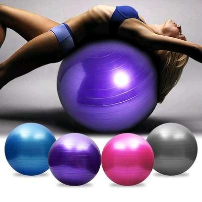 Anti burst yoga ball for physical fitness exercises image 1