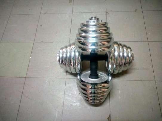40Kg Electroplated Dumbells image 1