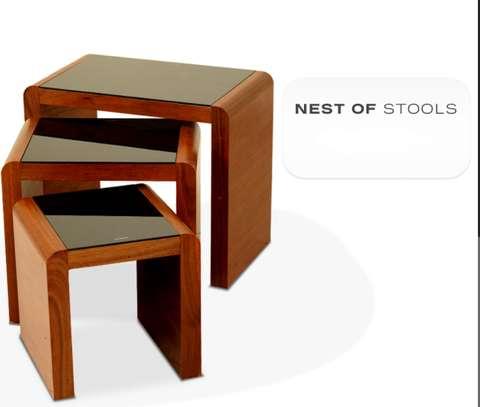 Square Nest of stools image 1