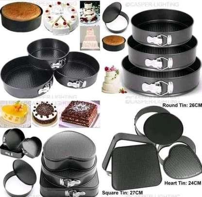 Round shape,spring form cake mould/baking set image 1