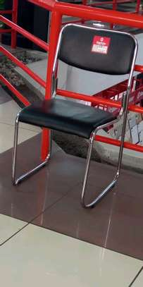 Elctroplated silver frame visitors chair image 1