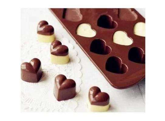 Heart Shaped Silicone Mold for Chocolate (15 Hearts) image 1