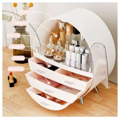Dustproof Cosmetic organiser/make up organiser/jewellery organiser/storage desk organiser image 1