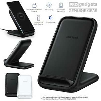 Samsung -15w Qi Fast Charge Wireless Charging Stand for iPhone/Android image 3