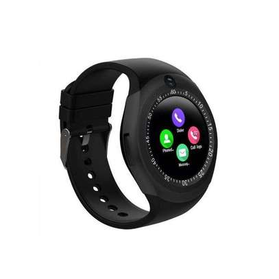 Y1 Sporty Smart Phone With Touchscreen Watch - Black