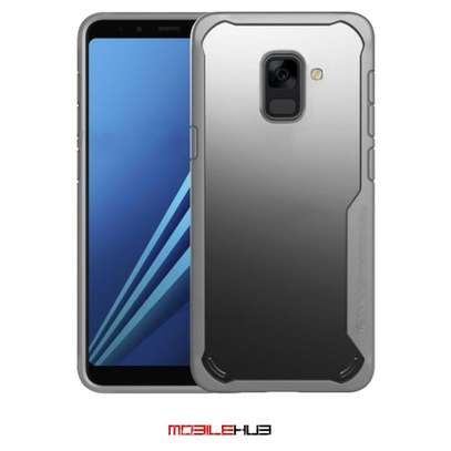 IPAKY Hybrid Shockproof Transparent Case for Samsung A8 2018/A8 Plus 2018 image 4