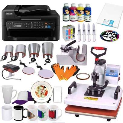 A4 EIGHT-IN-ONE sublimation print & press bundle image 1