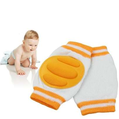 Infant Toddler Baby Knee Pad Crawling Safety Protector - Orange image 1