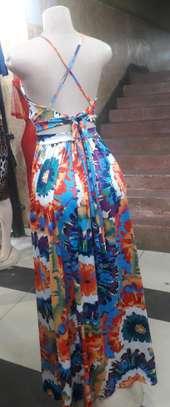 Summer crossed back dress image 1