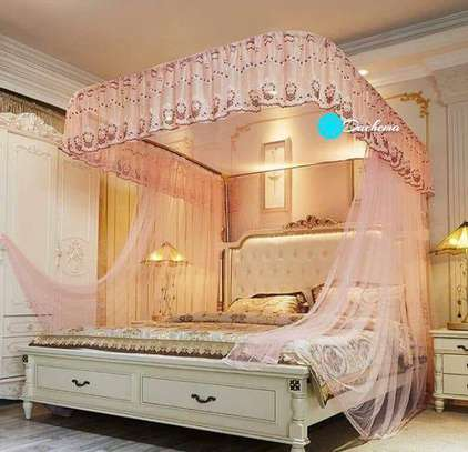 pink two stand mosquito nets image 1