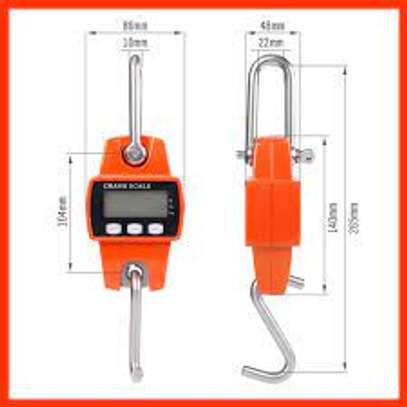 300kg Mini Crane Scale Portable LCD Digital Electronic Stainless steel Hook... image 1