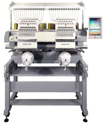 2 Head Embroidery Machine in stock image 1