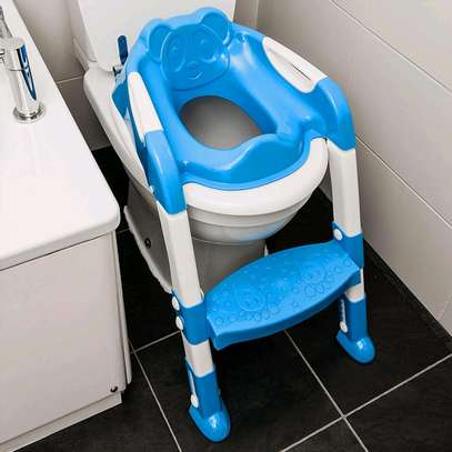 Baby/Toddler toilet seat with ladder image 1