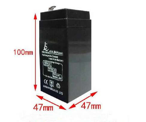 4V 4AH rechargeable lead acid battery storage battery small toy car battery image 1