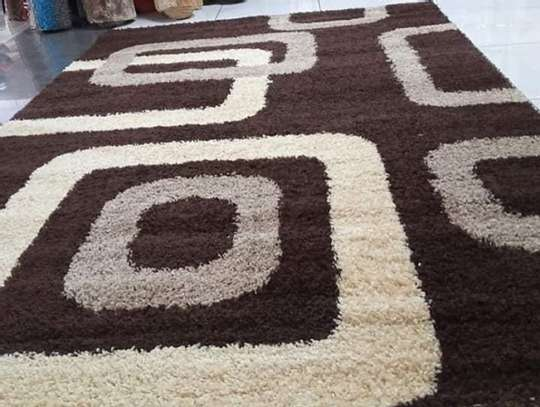 shaggy carpet Turkish brown patched image 1
