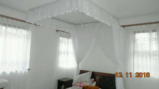 Rail Shears Mosquito Nets Sliding Like Curtains Fixed On The Ceiling image 3
