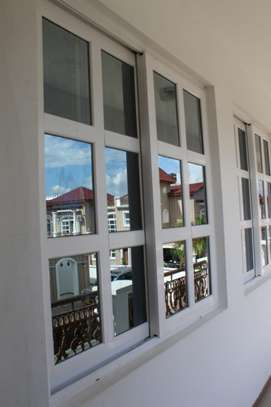 Upvc Windows Reinforced with Wrought Iron