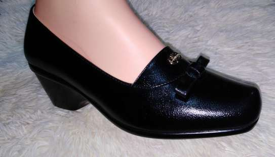 Black Official Wedge Shoe