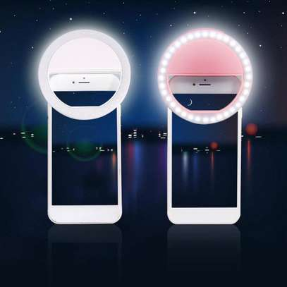 Portable mini selfie ring light image 1