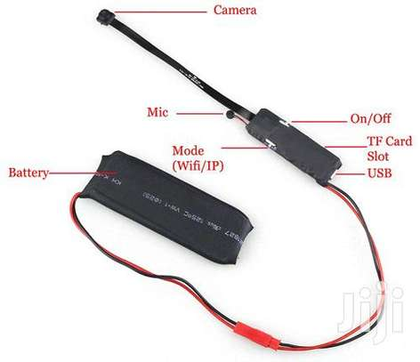 Mini HD Wireless WIFI IP Spy Hidden Pinhole Stand Alone image 1