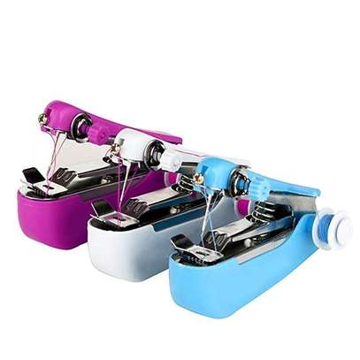 Generic US Portable Mini Handheld Sewing Machine Clothes Stitch Manual Sewing Machine(Colorful) image 1
