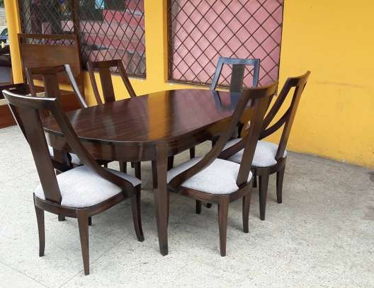 6-seater wooden dining set image 2