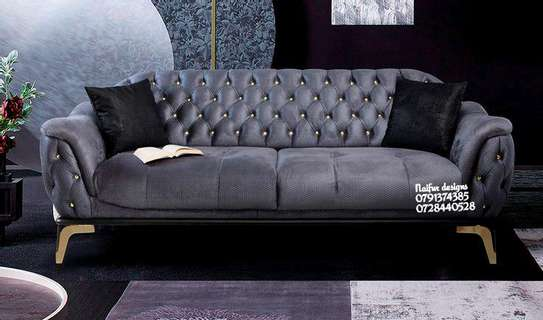 Tufted sofas/unique sofas/three seater sofas image 1
