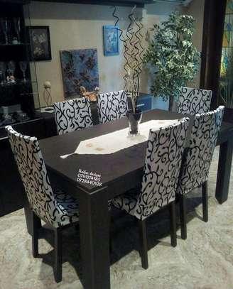 Modern six seater dining set/Modern dining room designs image 1