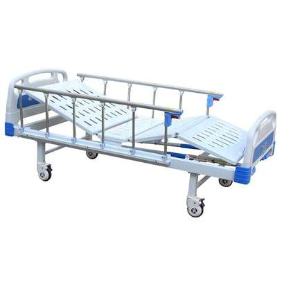 Hospital Manual Double crank Bed - Two function bed image 1