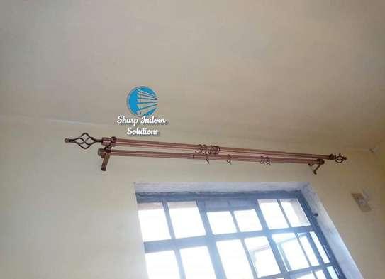 2m single curtain rods image 1