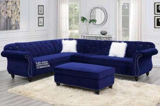 Six seater sofas/blue sofas/modern sofas/chesterfield sofas image 1