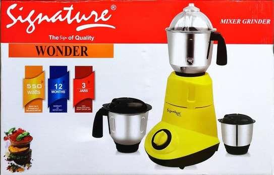 Wonder Mixer Grinder 550W Stainless Steel 3 Jars image 1