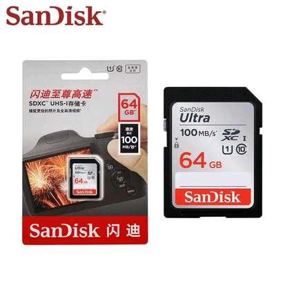 Sandisk 64GB Memory Card Ultra SDHC/SDXC UHS-I For Cameras image 2