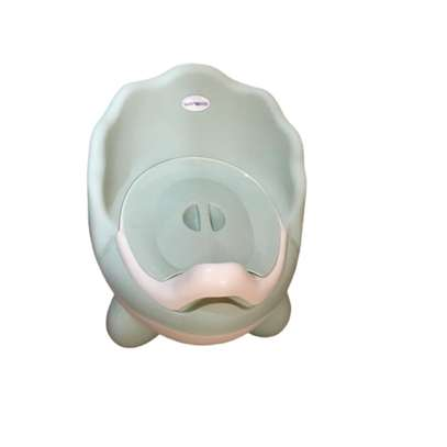 Baby Potty with lid and high backrest- Blue image 1