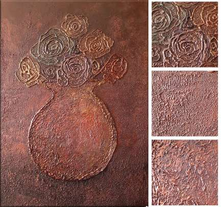 Modern Abstract Textured Decorative Painting image 2