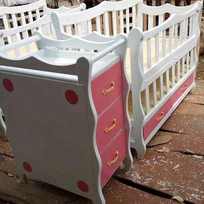 Baby cot with mattress and net and get a free delivery image 3