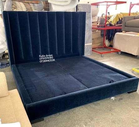 Modern blue bed designs in kenya/king size beds/Classic beds for sale in Nairobi Kenya image 1