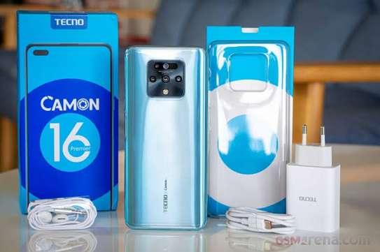 Tecno Camon 16 Premier, 6.9'' inches of display, 4500MAh BATTERY,8GB RAM +128GB ROM,Dual SIM- Glacier Silver image 1