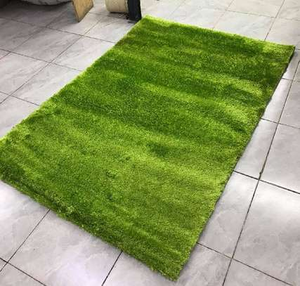 Turkish green shaggy carpet image 1