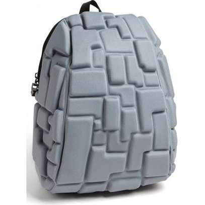 School Bag,Travel Bag,Antitheft bag with 3D Block Patterns - One size